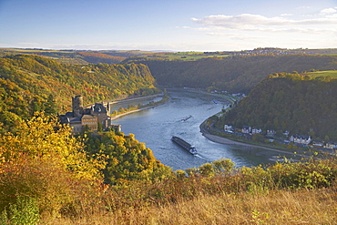 Katz castle near St.Goarshausen and the Loreley, Cultural Heritage of the World: Oberes Mittelrheintal (since 2002), Mittelrhein, Rhineland-Palatinate, Germany, Europe