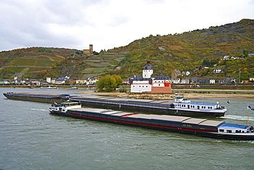 Burg Pfalzgrafenstein and Burg Gutenfels at Kaub, Cultural Heritage of the World: Oberes Mittelrheintal (since 2002), Mittelrhein, Rhineland-Palatinate, Germany, Europe