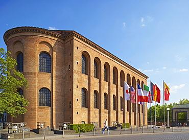 Basilica of Constantine, Aula Palatina, Konstantinplatz, Trier, Mosel, Rhineland-Palatinate, Germany, Europe