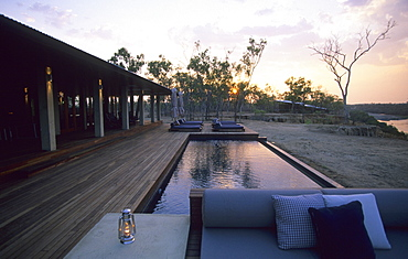 Morning at the luxurious Wrotham Park Lodge in the Cape York peninsula in Queensland, Australia