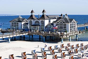 Sellin pier, Island of Ruegen, Mecklenburg-Vorpommern, Germany