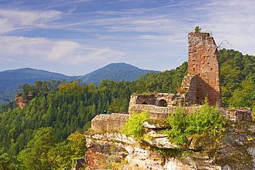 Castles of Altdahn, Grafendahn, Tanstein near Dahn, Palatinate Forest, Rhineland-Palatinate, Germany, Europe