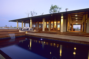 The homestead of the luxurious Wrotham Park Lodge in the Cape York peninsula in Queensland, Australia