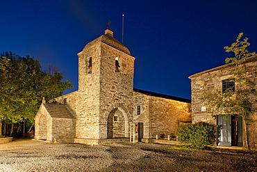 Santa Maria church, O Cebreiro, Camino Frances, Way of St. James, Camino de Santiago, pilgrims way, UNESCO World Heritage, European Cultural Route, province of Lugo, Galicia, Northern Spain, Spain, Europe