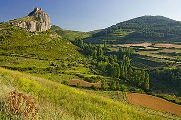 Castillo de Clavijo, castle, fortress near Logrono, Camino Frances, Way of St. James, Camino de Santiago, pilgrims way, UNESCO World Heritage, European Cultural Route, La Riojo, Northern Spain, Spain, Europe