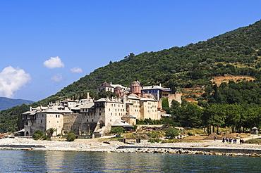 Monastery Moni Dochiariou, Athos mountain, Chalkidiki, Greece