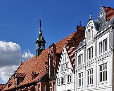 Luebsche Street, Saint Spirit Church, hanseatic city Wismar, Mecklenburg-Western Pomerania, Germany
