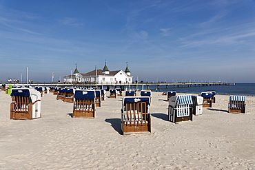 Pier of Ahlbeck, Usedom, Mecklenburg-Western Pomerania, Germany