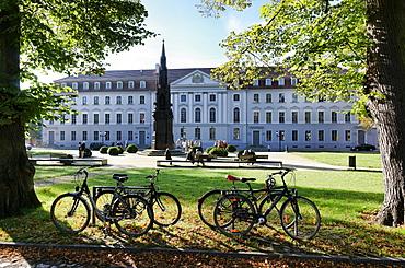 Rubenow Monument, Rubenow Square, University of Greifswald, Greifswald, Mecklenburg-Western Pomerania, Germany
