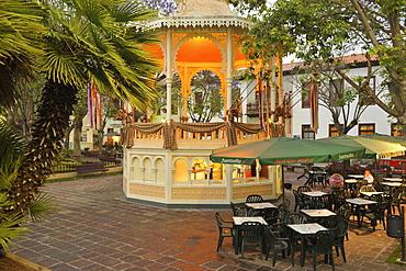 Kiosk at he Plaza del Kiosco, La Orotava, Tenerife, Canary Islands, Spain