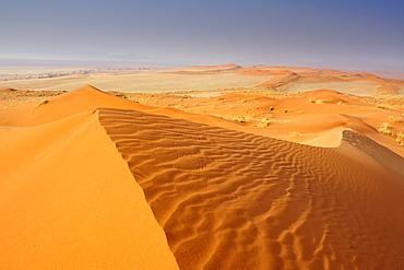 Red sand dunes in Namib Rand Nature Reserve, Namib desert, Namibia