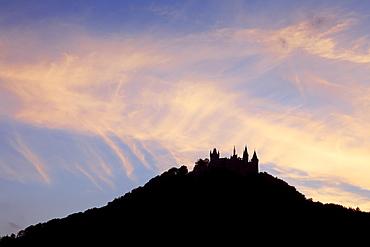 Hohenzollern castle, near Hechingen, Swabian Alb, Baden-Wurttemberg, Germany