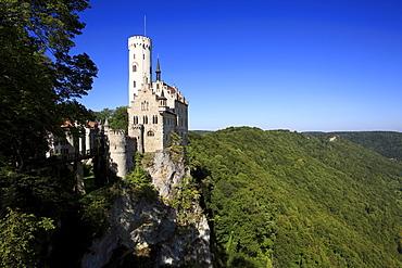 Lichtenstein castle, Swabian Alb, Baden-Wurttemberg, Germany