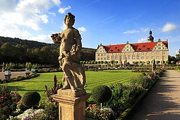 Castle, Weikersheim, Tauber valley, Romantic Road, Baden-Wurttemberg, Germany