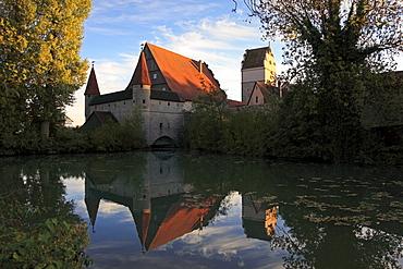 Noerdlinger Tor, Dinelsbuehl, Romantic Road, Franconia, Bavaria, Germany