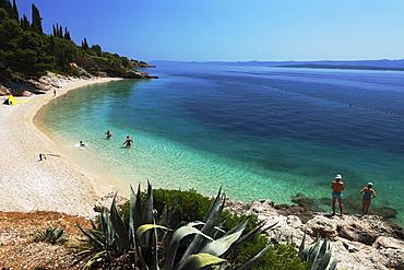 Bathing beach, Murvica, Bol, Brac, Split-Dalmatia, Croatia