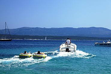 Tube Riding, Zlatni Rat, Golden Cape, Bol, Brac, Split-Dalmatia, Croatia