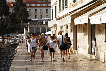 Harbor promenade, Hvar town, Hvar, Split-Dalmatia, Croatia
