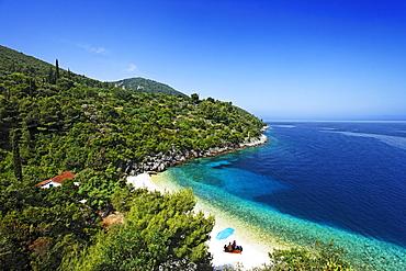 Bathing bay near Racisce, Korcula, Dubrovnik-Neretva County, Dalmatia, Croatia