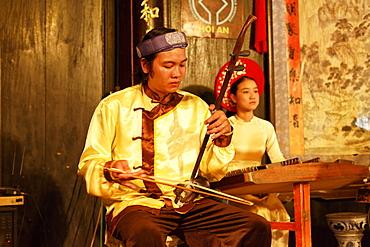 Traditional music performance, handicraft workshop, Hoi An, Annam, Vietnam
