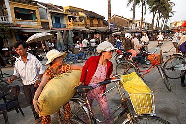Street scenery near harbor, Hoi An, Annam, Viertnam
