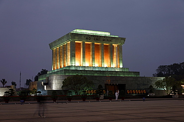 Ho Chi Minh Mausoleum, Ba Dinh Square, Hanoi, Bac Bo, Vietnam