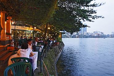 Restaurant near Truc Bach Lake, Hanoi, Bac Bo, Vietnam