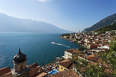 View over Limone, Lake Garda, Lombardy, Italy