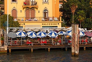 Restaurant, Malcesine, Lake Garda, Veneto, Italy
