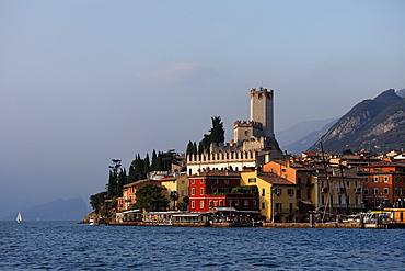 Lakeside, Scaliger Castle, Malcesine, Lake Garda, Veneto, Italy