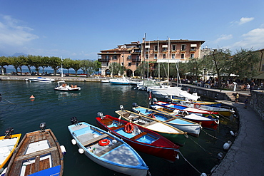 Boats in Harbor, Torri del Benaco, Lake Garda, Veneto, Italy