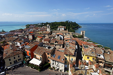 View over Sirmione, Lake Garda, Veneto, Italy