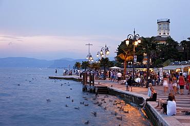 Promenade, Lazise, Lake Garda, Veneto, Italy