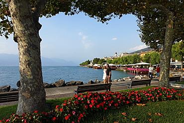 Promenade, Torri del Benaco, Lake Garda, Veneto, Italy