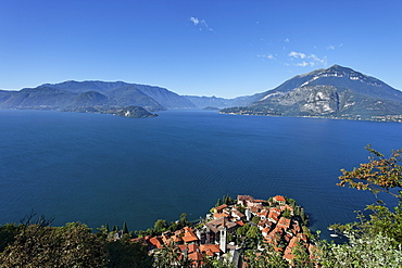 View over Varenna and Lake Como, Lombardy, Italy