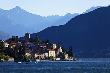 Castle, Lakeside, Rezzonico, Lake Como, Lombardy, Italy