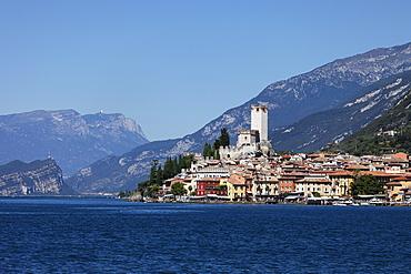 Panorama, Scaliger Castle, Malcesine, Lake Garda, Veneto, Italy