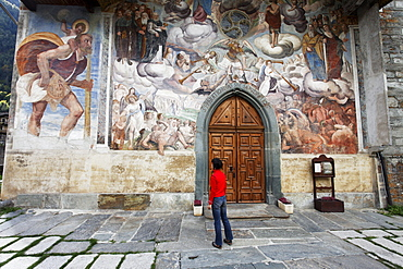 Fresco, San Michele Church, Riva Valdobbia, Valsesia, Piedmont, Italy
