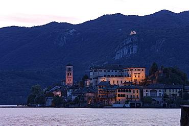 Twilight, Isola San Giulio, Lago d' Orta, Piedmont, Italy