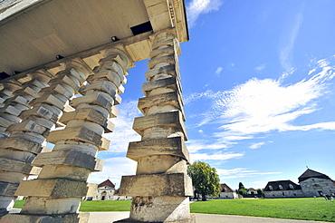 Royal saline in the sunlight, Arc-et-Senans, Jura, Franche ComtÈ, Eastern France, Europe