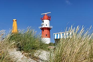 Electrical Lighthouse, Suedbad, North Sea Island Borkum, East Frisia, Lower Saxony, Germany