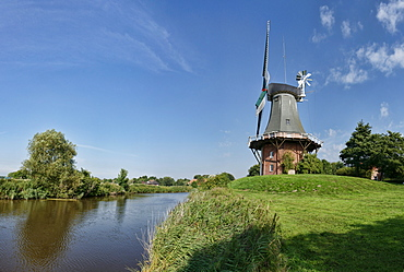 Windmill in Greetsiel, East Frisia, Lower Saxony, Germany