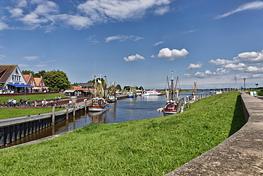 Harbour in Greetsiel, East Frisia, Lower Saxony, Germany