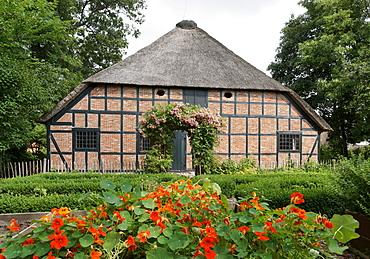 Dithmarscher Farmhouse, Dithmarscher State Museum Meldorf, Meldorf, Dithmarschen, Schleswig-Holstein, Germany