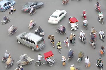 Traffic of Hanoi, Hanoi, Vietnam, Asia