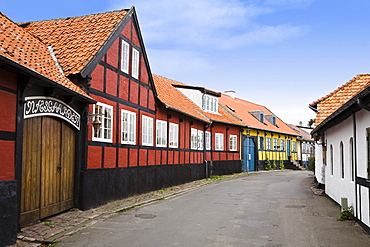 Frame houses in Allinge, Bornholm, Denmark, Europe
