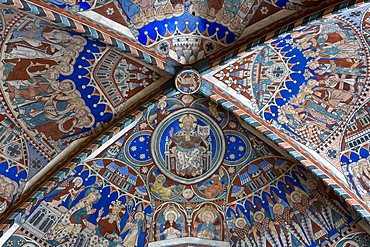 Ceiling fresco at the Nunnery of Wienhausen Convent, former Cistercian nunnery is today an evangelical abbey, Wienhausen, Lower Saxony, Germany, Europe