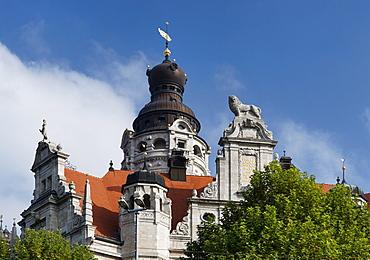 New City Hall, architect Hugo Licht, Leipzig, Saxony, Germany