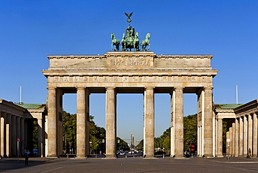 The Brandenburg Gate on Pariser Platz, Berlin, Germany
