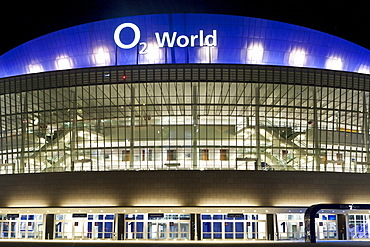O2 World Stadium at night, Berlin, Germany